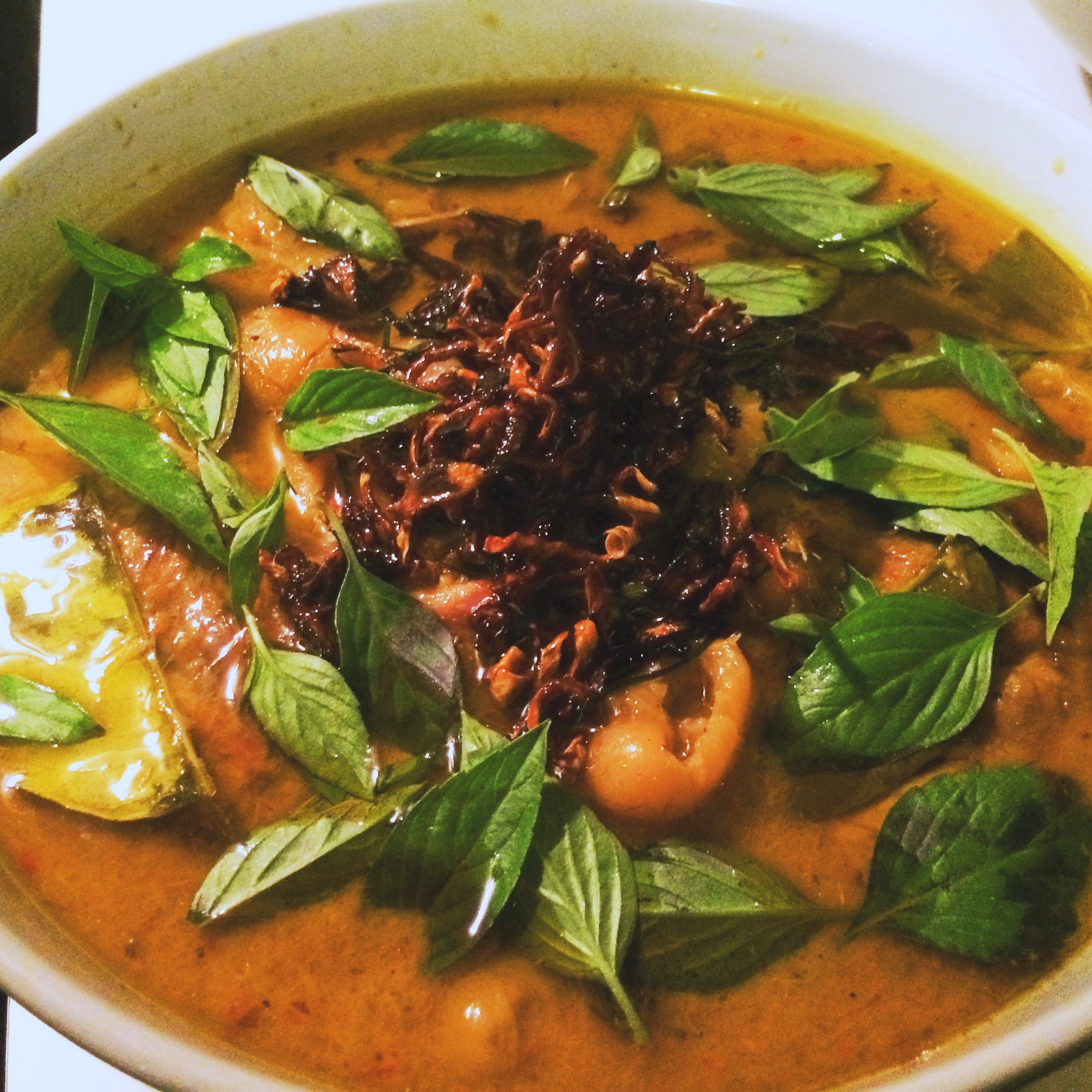 Red Curry of Duck with Rambutans